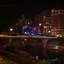 The bridge, the river, and a stage from afar. I have to get the girls on the gondola and take this ride.
