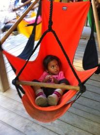 On the sky chair