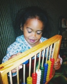 She loves her abacus