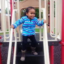 Wednesday at the park, like it wasn't cold or something :/
