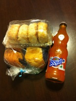 Found some Filipino goodies, ube bread, hopia, and Royal