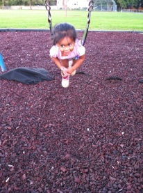 Obviously this is how you ride a big kid swing