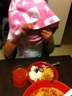 How Xavi ate her Moroccan chicken