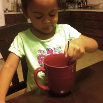 She loves hot chocolate.