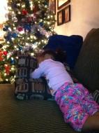 """Fell asleep waiting for, """"Santa"""""""