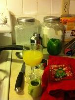 Drinks while cooking