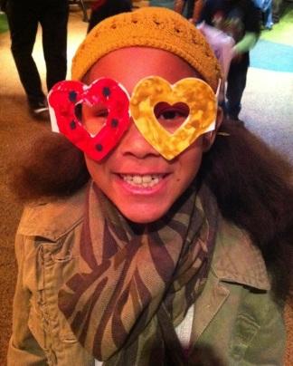 Xavi made heart glasses